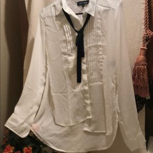 Wet seal high low light-weight thin buttoned down.